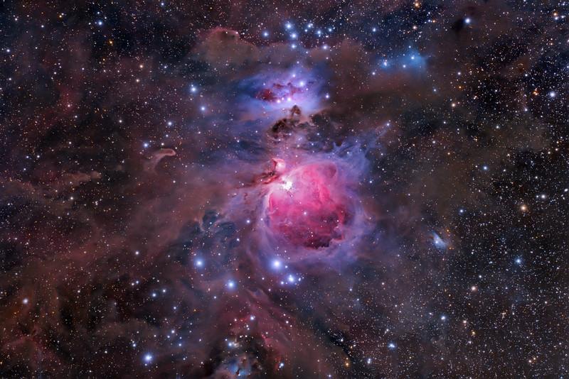 M42 The Sword of Orion Nov2011 Vanderpool, TX Canon 5Dmarkii Modded Tak FSQ 106 F5 20X10min 30X60sec