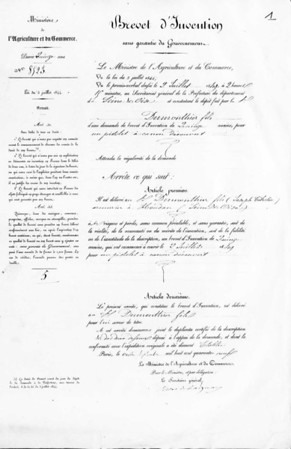 Dumonthier 1849 Patent Page 1