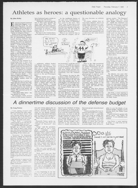 Daily Trojan, Vol. 98, No. 20, February 07, 1985