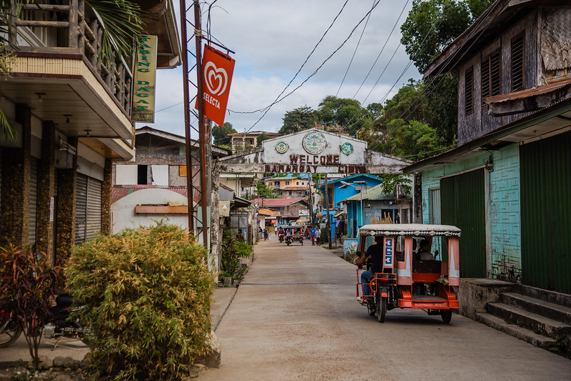 Leper colony sign on the main street on Culion Island in the Philippines