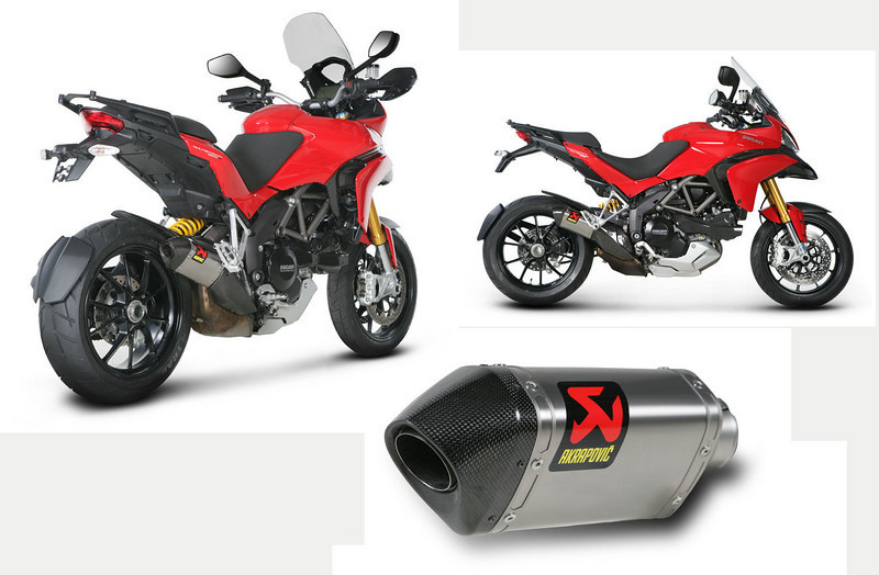 Akrapovic SLIP-ON STREET LEGAL EXHAUST SYSTEM for the DUCATI Multistrada 1200, 1200S, 1200 S Touring 