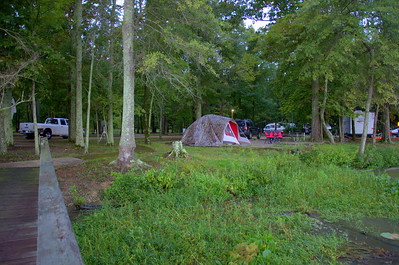 Blue Bluff campsite at Aberdeen Lake