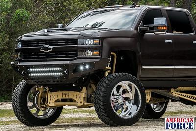 @theaustinrios 2016 Copper Chevy SIlverado 24x14 Polished Blade 38x13.5r24 @NittoTires