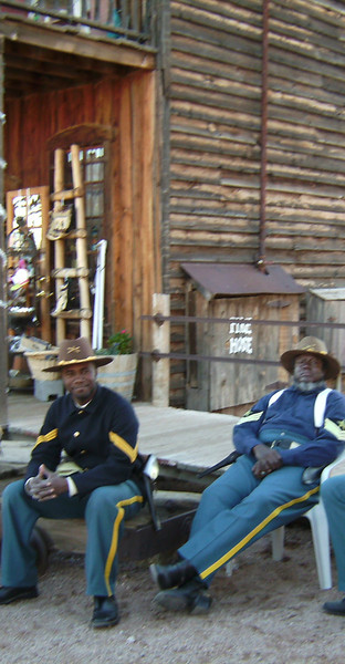 Buffalo Soldiers of the Arizona Territory just chillin at Ghostfield Ghost Town.