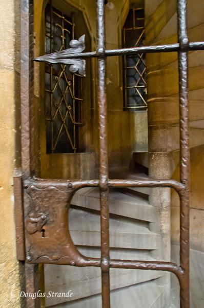 Locked stairway in St. Vitus Cathedral
