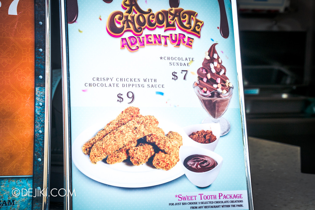 Universal Studios Singapore Park Update 2017 - Chocolate Adventure food - Friar's