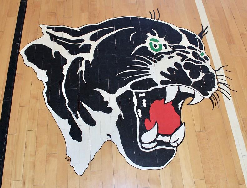 Gymnasium floor in the historic Superior High School (2019)