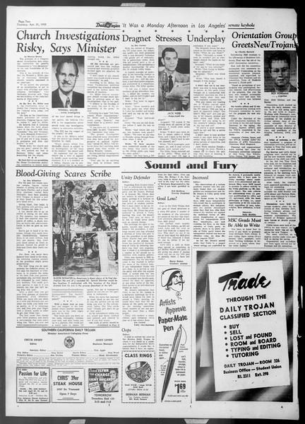 Daily Trojan, Vol. 44, No. 115, April 21, 1953