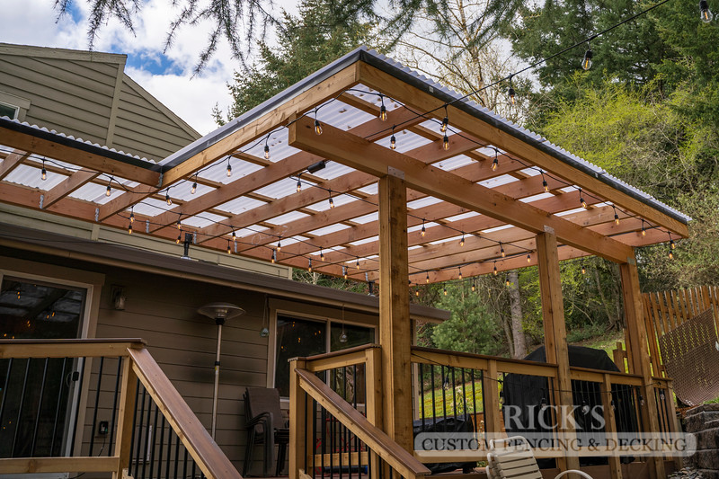 5501 - Wood-Framed Patio Cover with Acrylite Paneling