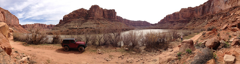 Green RIver; lunch spot