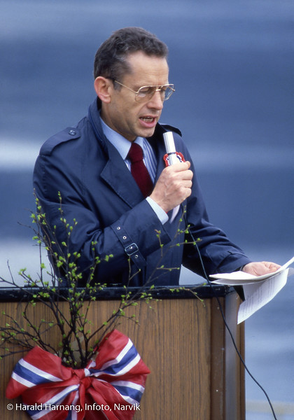 Ankenes, 17. mai-tale, ordfører Roald Sandvold.