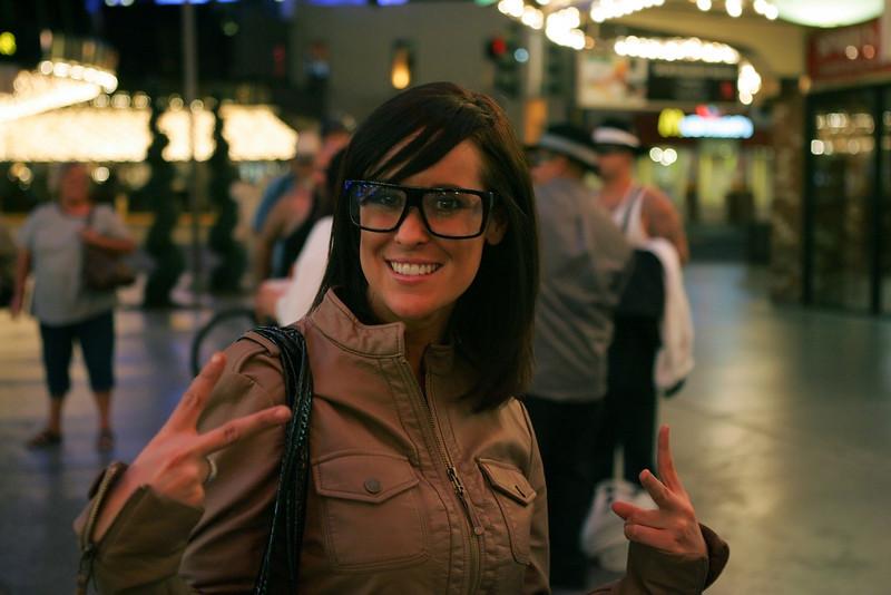 Kellie sporting the specs!