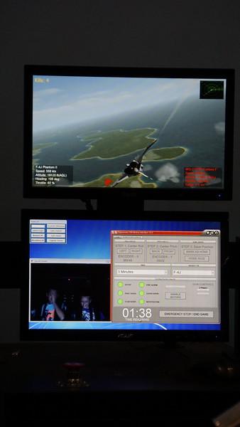 Flight simulator readout