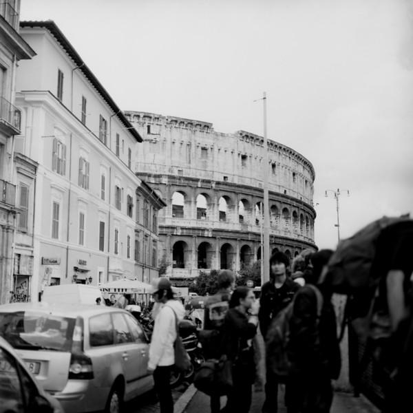 Colosseum in Rome 6:Italy beyond 70mm. Photographs taken on 80mm (Medium format film)