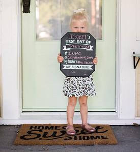 Izzy, preschool pics 9-4-19