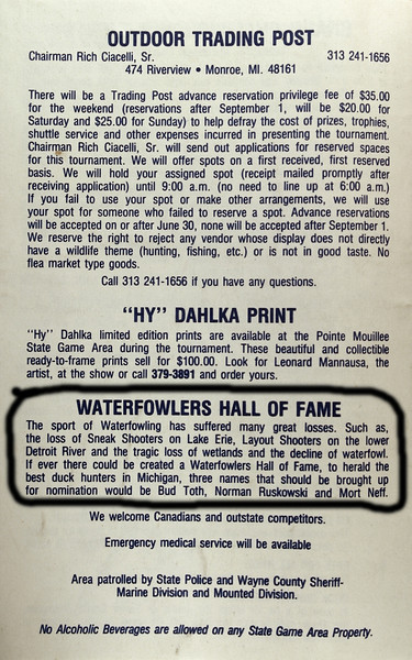 Dad in the Duck Hunters Hall of Fame.JPG