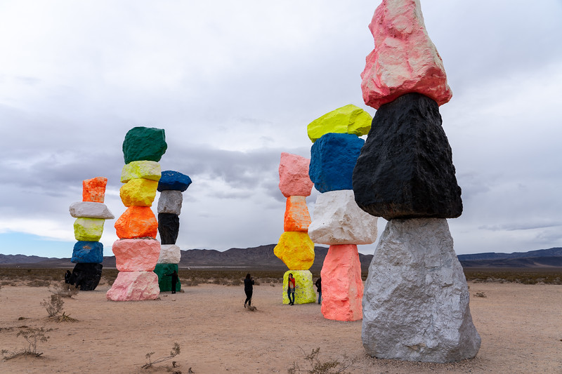 Seven Magic Mountains art installation