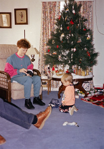 Christmas 1992 with Lizzie