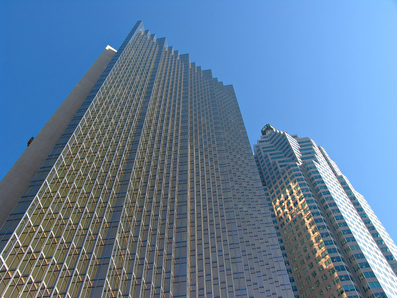 Two typically tall Toronto towers