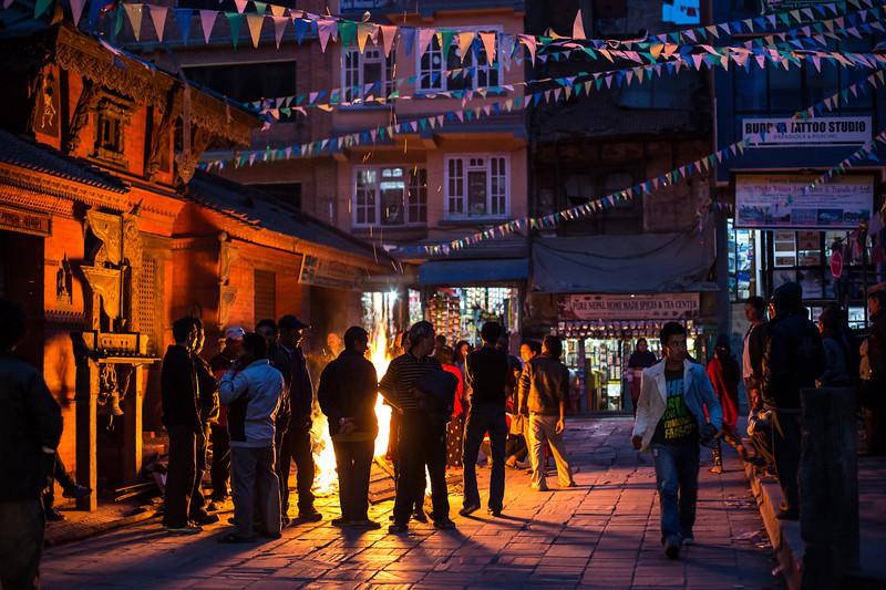 Kathmandu on fire - Shivaratri Festival