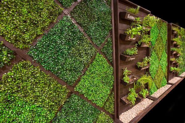 Whitt Design Studio herb wall project