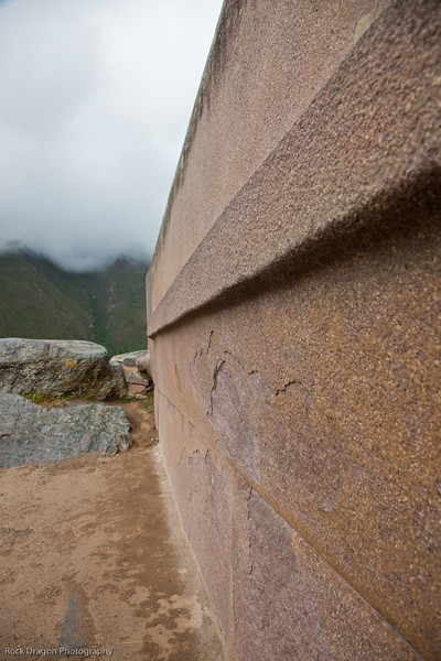 """The """"Unfinished Temple"""" in Ollantaytambo, Peru."""