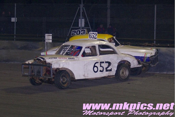 Historic Saloon Stock Cars, Northampton 23 September 2012