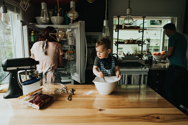 Baking Cookies with Jude, Seattle Family Photographer