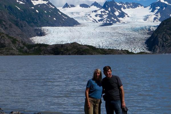 Day 13: Halibut Cove, kayak to Glacier, back to Homer