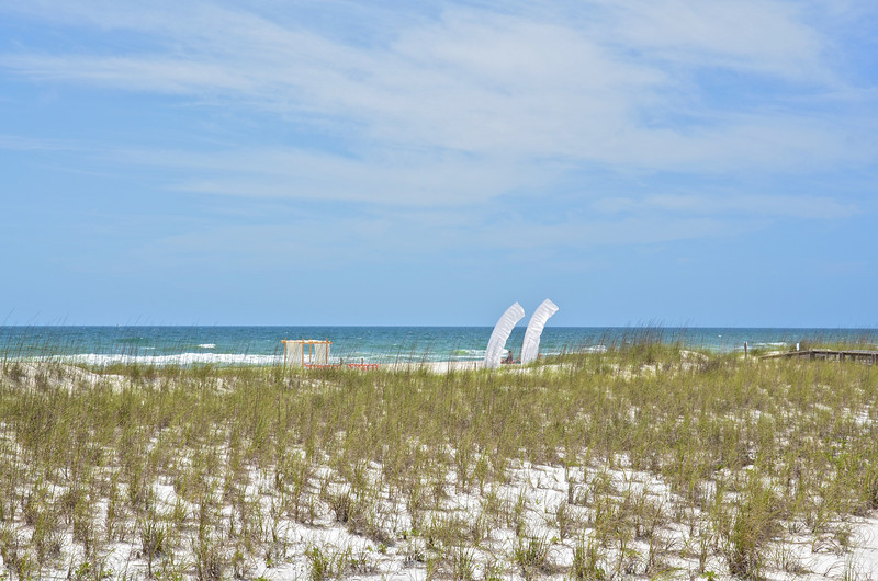 Perdido Key State Park is a 247-acre park on the barrier island of Perdido Key which is noteworthy because it is the western-most state park in Florida. The rolling sand dunes and covered picnic tables overlooking the beach provide a great place for family outings.