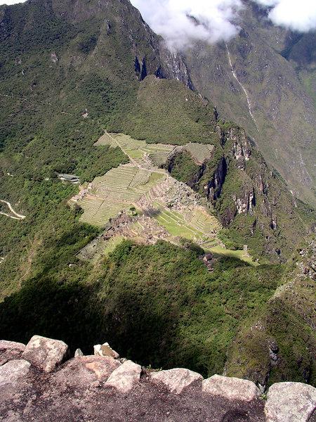 What Machu Picchu looks like on top of Waynu Picchu.