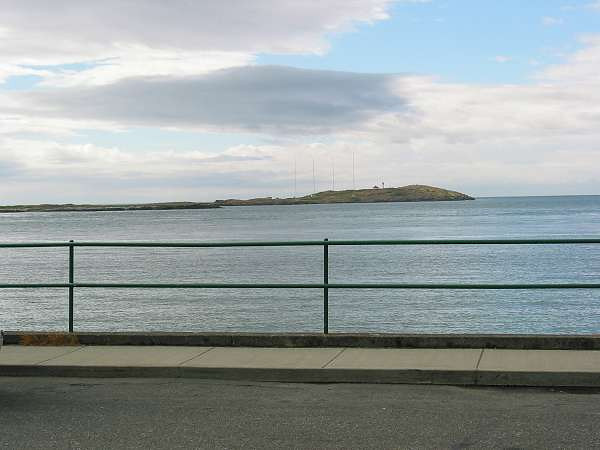 Royal Victoria Marathon Landmarks - 1999 Course - Trial Island - visible from much of the course