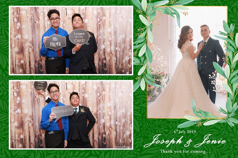 Joseph & Jenie Wedding @ EdenStar Saigon Hotel - instant print photobooth for wedding - in hình lấy liền Tiệc cưới - Photobooth Saigon