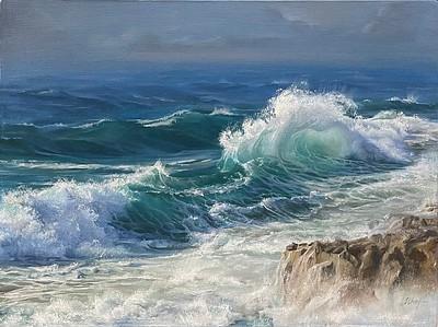"""Painting 2"" (oil) by Olga Ivankina"