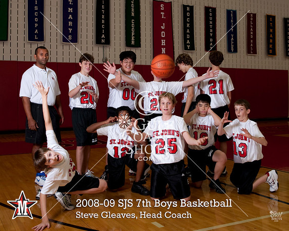 2008-09 Middle School Boys SJS Team Portraits