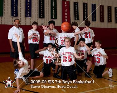 2008-09 Middle School Boys SJS Team Portraits