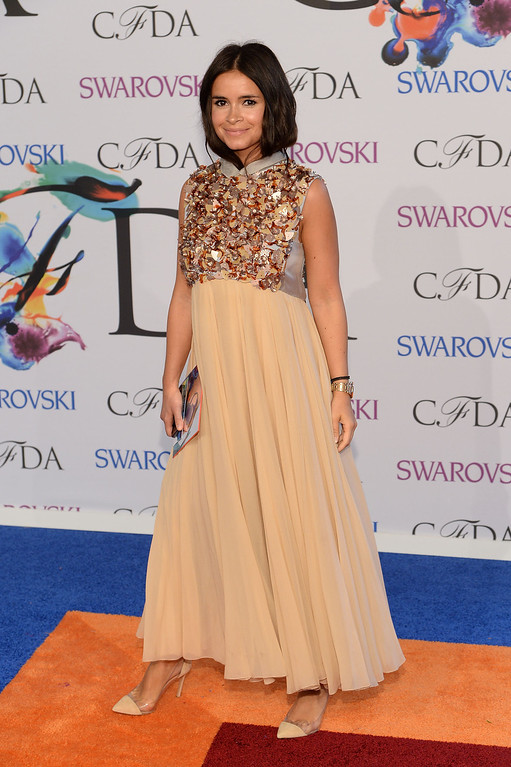 . Mira Duma attends the 2014 CFDA fashion awards at Alice Tully Hall, Lincoln Center on June 2, 2014 in New York City.  (Photo by Dimitrios Kambouris/Getty Images)