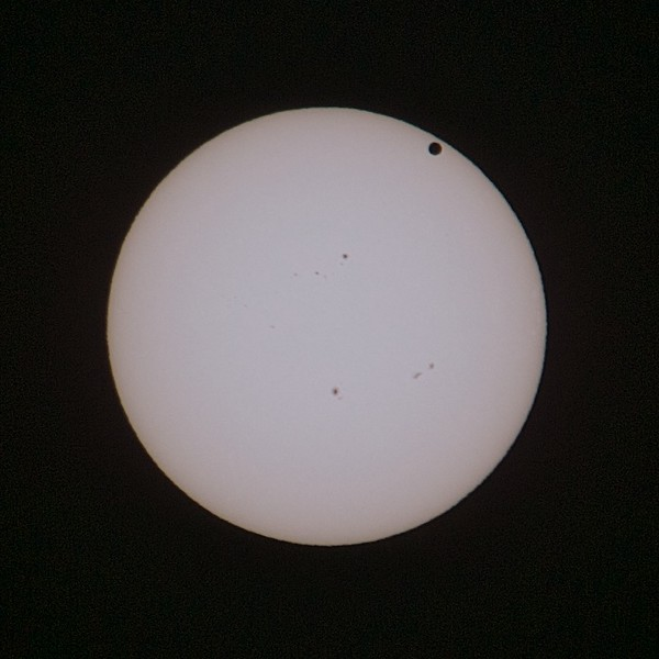 Venus is coming closer to the Sun disc