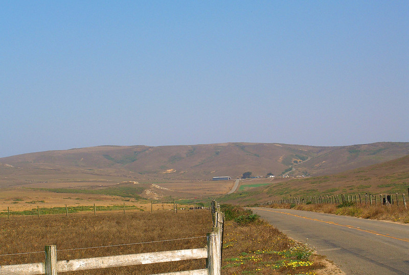 One of the historic dairy farms along the Inverness Ridge, looking towards the headlands, Point Reyes National Seashore