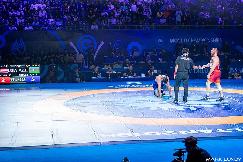 Semifinal: Sharif Sharifov (Azerbaijan) over Kyle Frederick Snyder (United States)  •  Dec 5-2 - 2019 World Championships