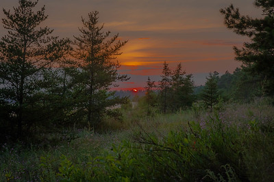 Sunset on Lake Michigan Upper Pennisula