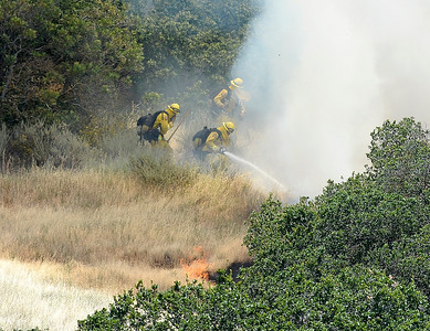 Photos: Solano County firefighters battle grass fire