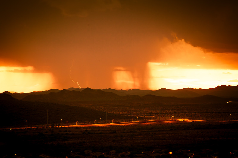 A Monsoon over Arizona with Lightning