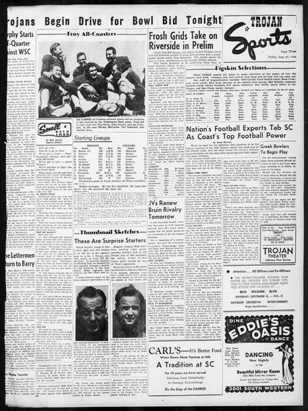 Daily Trojan, Vol. 38, No. 10, September 27, 1946