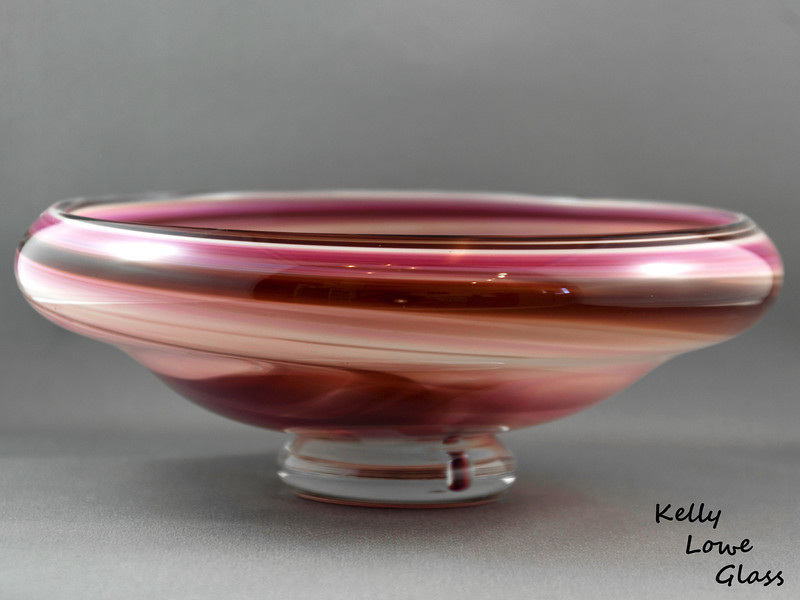 "Red and Ruby Bowl - Picture 1/2  Dimensions:  Width: Approx 21cm (8.27"") Height: Approx 8.5cm (3.35"") Weight: Approx 980g (2.16 lbs)  The pictures included here are of the specific piece for sale."