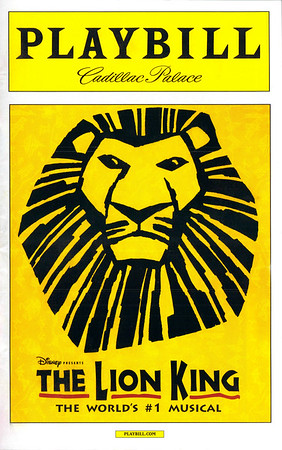 20160109 The Lion King: Cadillac Palace - Chicago, IL