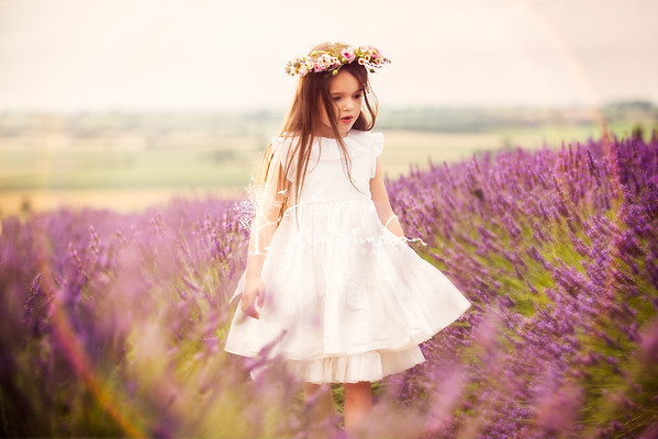 Ava, Lavender Portrait
