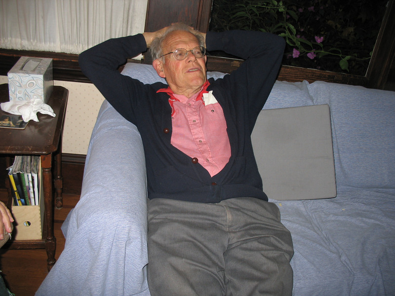 Bob relaxes on the couch