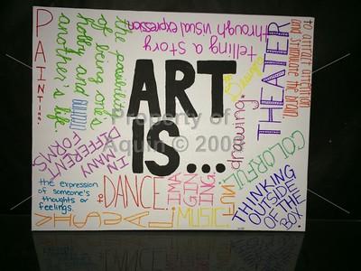 senior high art final projects . 5.27.15