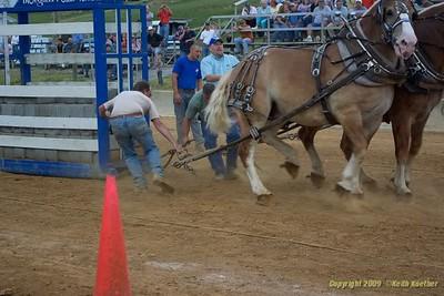 2009 Mercer County Fair Horse Pulls